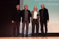 De izquierda a derecha; Pepe Galindo, Miguel Corella, Antonio Ariño y José Luis Cueto