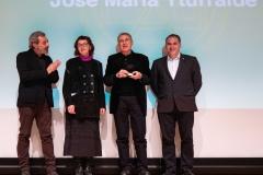 De izquierda a derecha; Pepe Galindo, María José Martínez, Yturralde y José Millet