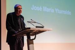 José María Yturralde en su discurso de agradecimiento