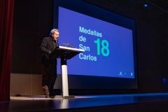 Pepe Galindo en el discurso de clausura del acto